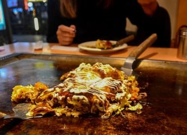Okonomiyaki in Osaka, Top Tourist Attractions in Osaka Japan