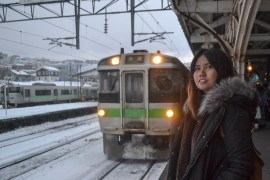 Fanfan Wilson, JR Japan Rail Pass Travel in Winter February Snow