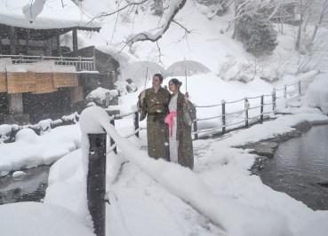Travel Bloggers, Osenkaku Ryokan Takaragawa Onsen in Winter Snow