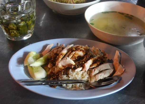 Hainanese Chicken Rice vs. Khao Man Gai (Singapore vs. Thailand)