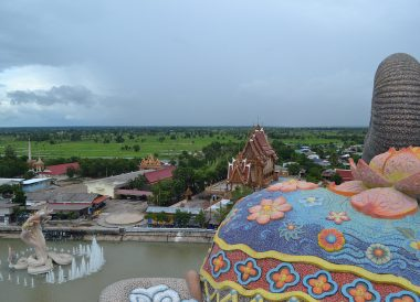 Above Wat Ban Rai, Dusit Princess Korat Hotel. Gateway to Isaan Northeast Thailand