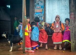Hill Tribes at Doi Angkhang Border Chiang Mai Thailand