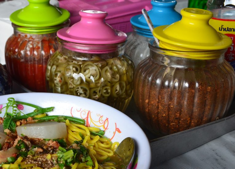Thai Condiments, Thai Noodle Soups in Thailand