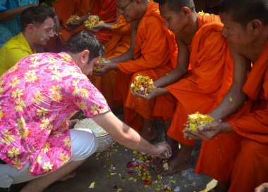 Songkran Monks, Best Book Living in Thailand Isaan: Potato in a Rice Field
