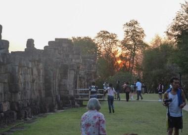 Sunrise at the Phanomrung Festival Historical Park, Buriram Thailand
