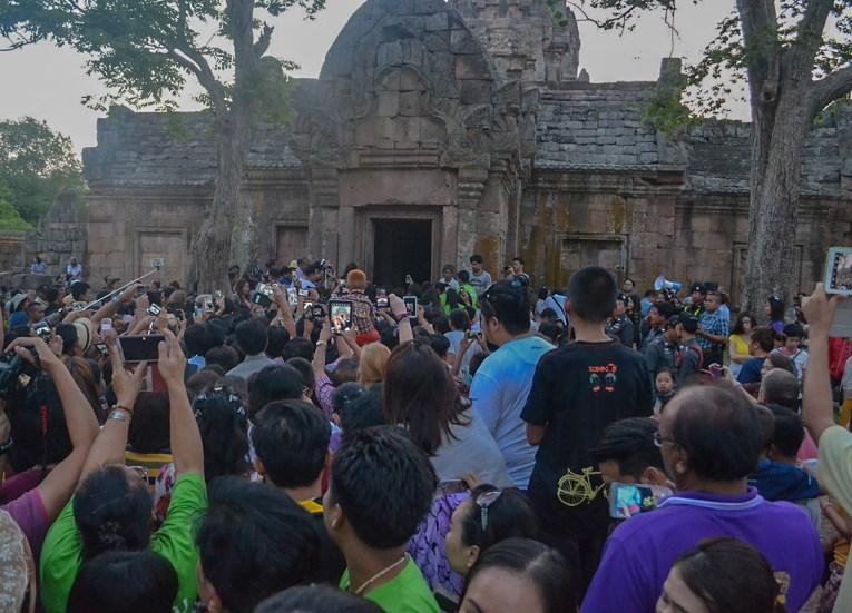 Crowds at Sunrise, Phanomrung Festival Historical Park, Buriram Thailand