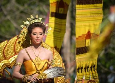 Beautiful Khmer Dress, Phanomrung Festival Historical Park, Buriram Thailand