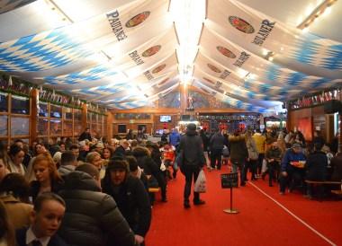 Beer Tents at Belfast Christmas Market, Continental Market Northern Ireland