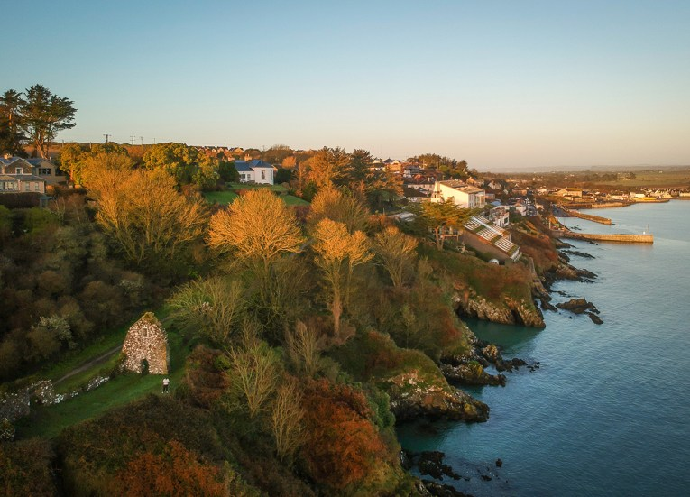 Drone Views, Best Sea Views Ireland The Cliff House Hotel Waterford