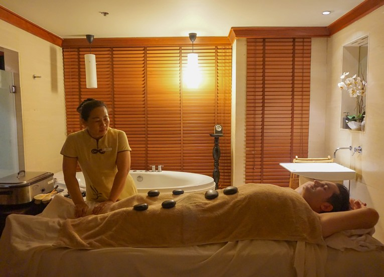 Hot Stone Massage, Best Massage in Krabi, Spa Cenvaree at Centara Grand Resort
