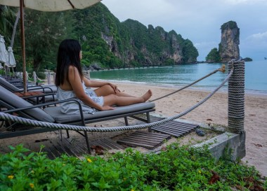 Empty Beaches, Centara Grand Resort and Villas Ao Nang Krabi Thailand