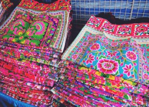 Hmong Textiles. Shopping for Thailand Souvenirs / Thai Gifts in Bangkok