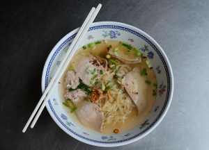 Chicken Noodle Soup, Thai Street Food Backpackers Favourite Snacks in Thailand