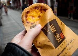 Potuguese Egg tart, Best Asian Street Food Eating Cheap in Asia