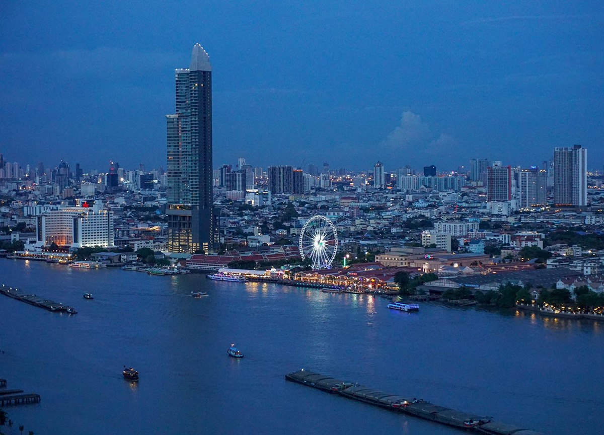 Chao Phraya River View from Avani Hotel in Bangkok