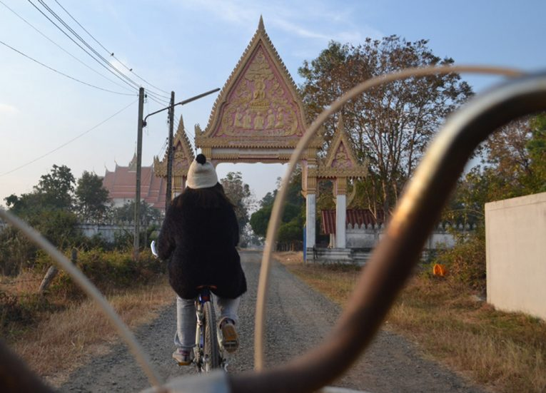 Cycling to the Local Temple Life in Rural Thailand Isaan