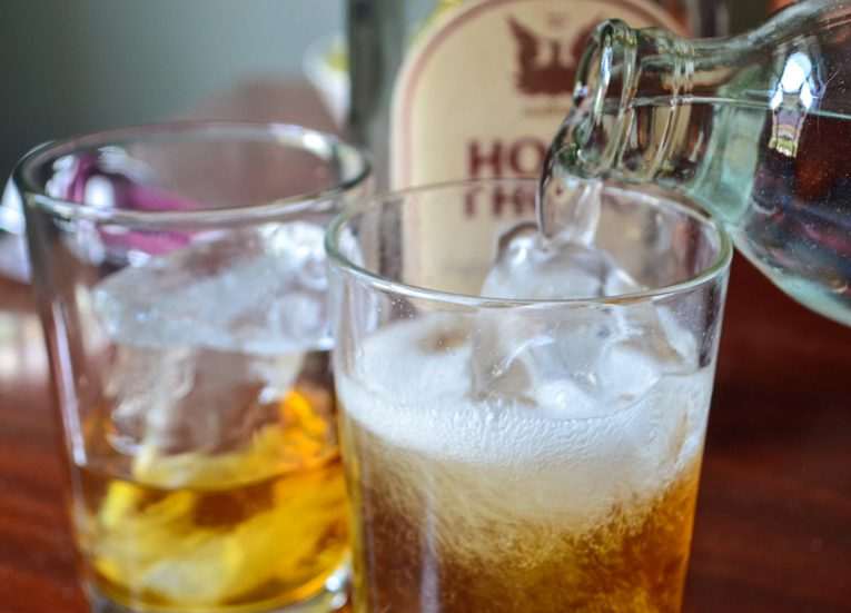 Hong-Thong-Whiskey-with-Fizzy-Water-for-Songkran-New-Year-Festival-in-Thailand-