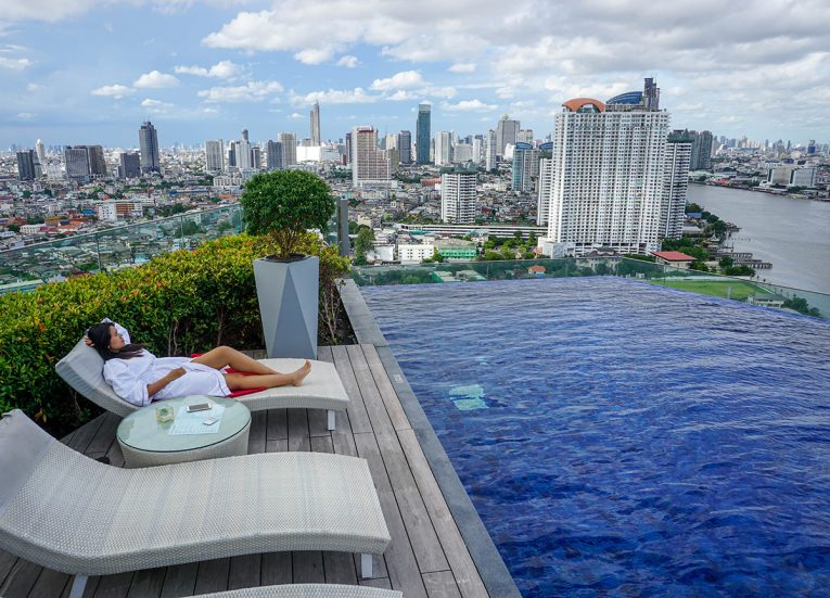 Inifinity Pool Views, Avani Riverside Hotel, Best of Bangkok Riverside