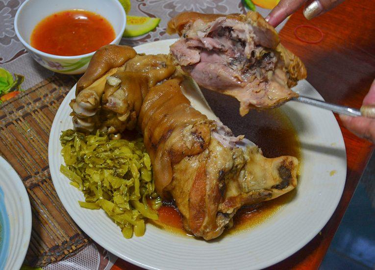Ka Moo Stewed Pork Leg Bangkok Street Food in Thailand