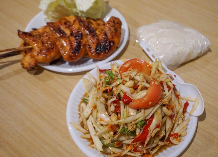 Som Tam Kai Yang Bangkok Street Food in Thailand