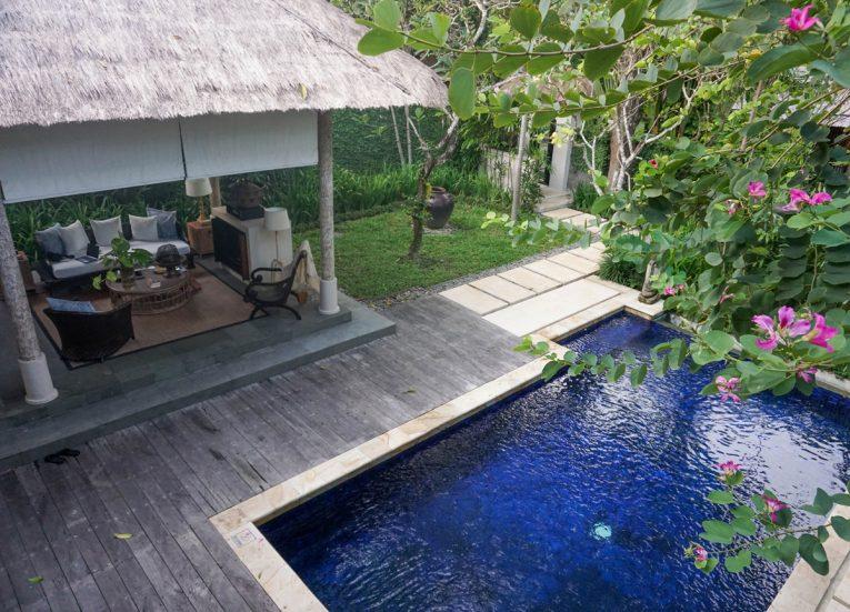 Balcony Views over Swimming Pool at Kayumanis Sanur Private Villa and Spa Bali Resort