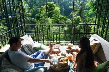HOSHINOYA Bali Air Gazebo Breakfast with Luxury Pool Villas at the Ubud Resort