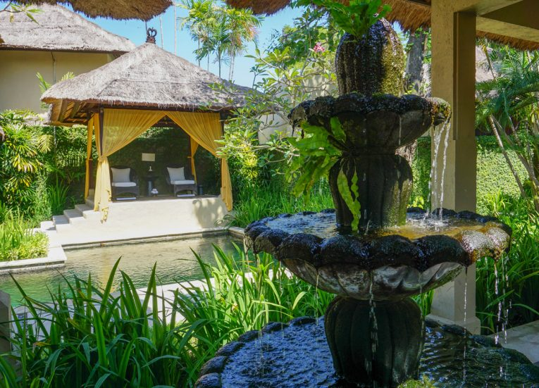 Spa Gardens and Fountain at Kayumanis Sanur Private Villa and Spa Treatments in Bali