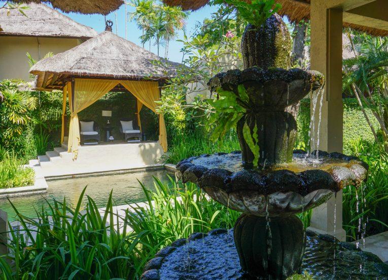 Spa Gardens and Fountain at Kayumanis Sanur Private Villa and Spa Treatments in Bali