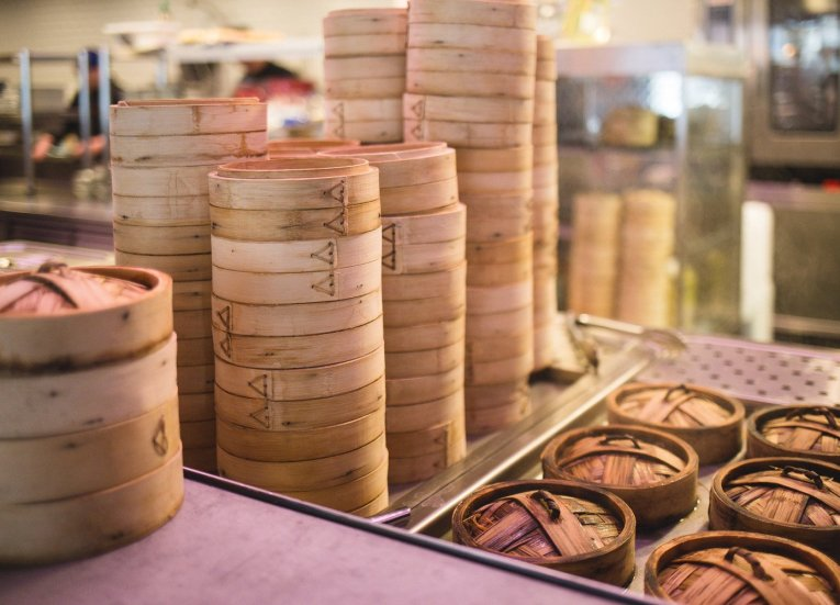 Dim-Sum-Bamboo-Baskets. Introduction to Dim Sum In Hong Kong