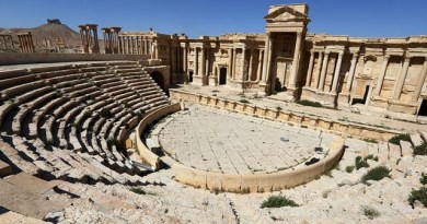 LLL-Live Let Live-ISIS terrorists destroy part of a Roman theatre in Palmyra