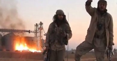 LLL-Live Let Live-ISIS terrorists burn gas plant near Syria's city of Palmyra