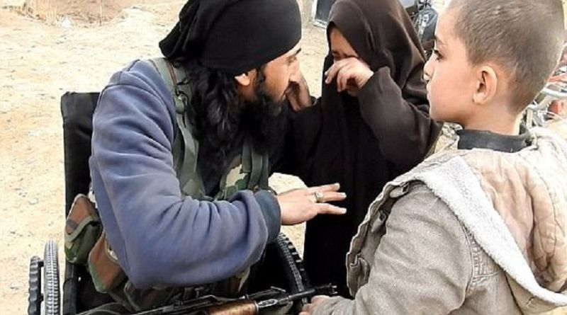LLL-Live Let Live-ISIS suicide bomber in a wheelchair says goodbye to his children before blowing himself up in Syria