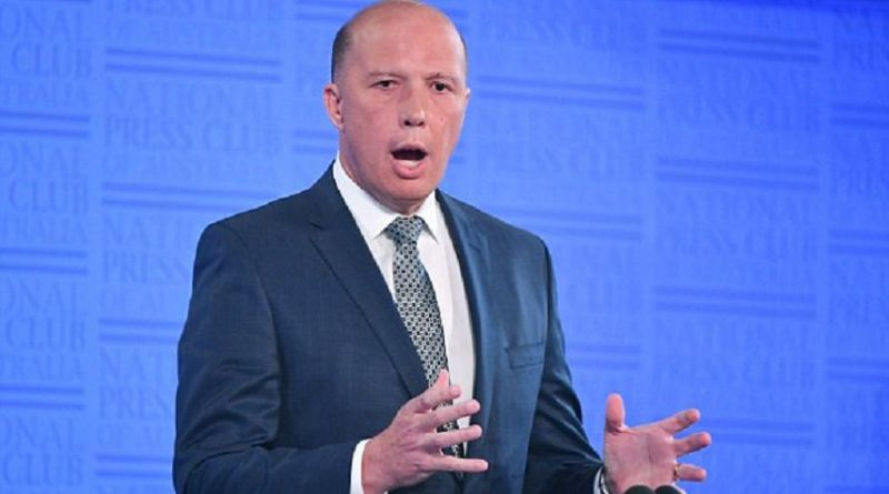 LLL-Live Let Live-Home Affairs Minister Peter Dutton: flags law changes to keep ISIS fighters in the Middle East out of the country