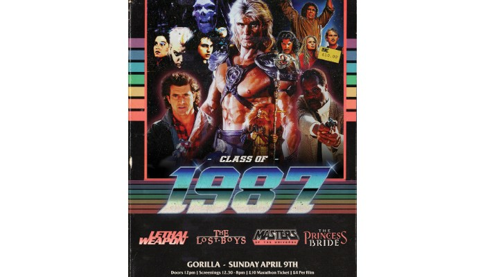 movie poster for Class of 1987 All-Dayer at Gorilla