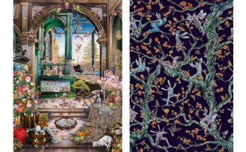 imagery from Raqib Shaw exhibition at the Whitworth Manchester