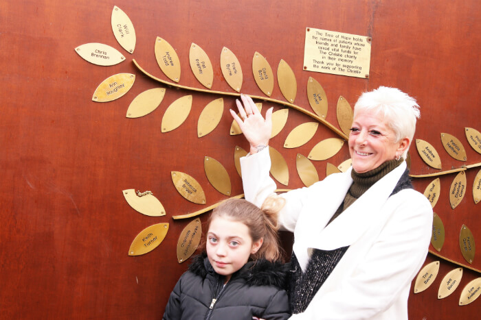 Frank Byrne has been honoured at The Christie on their Tree of Hope
