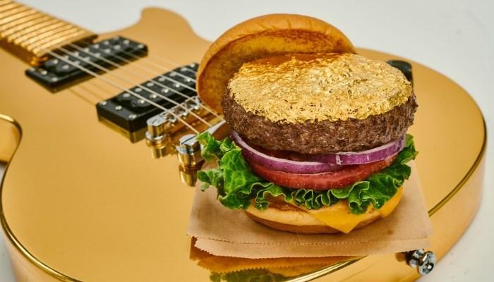 Manchester Hard Rock Cafes gold leaf steak burger