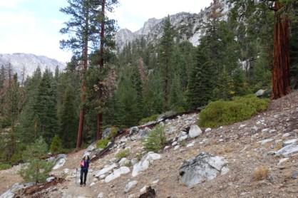 rae lake loop hike day 2 hike