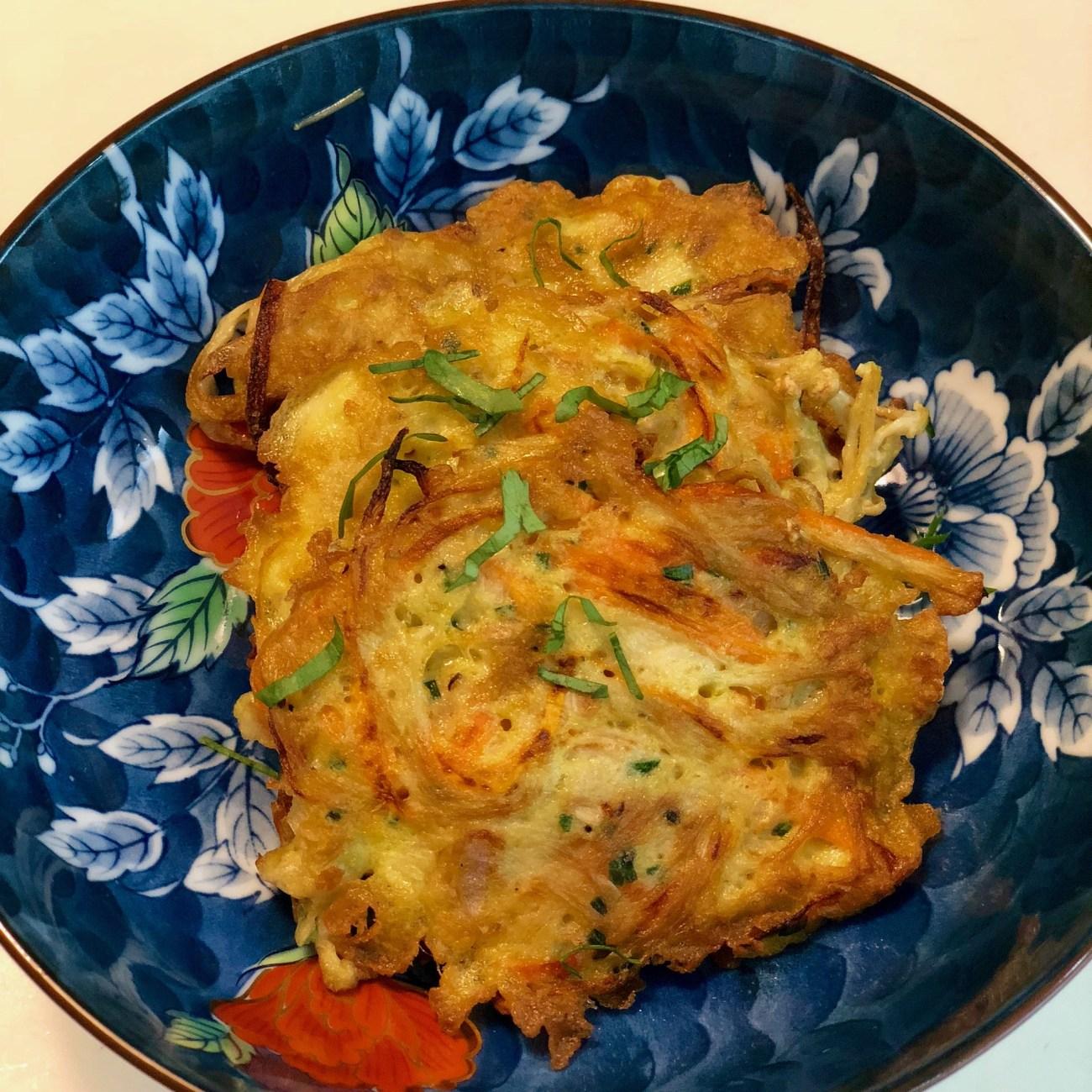 Korean Enoki Pancakes Recipe