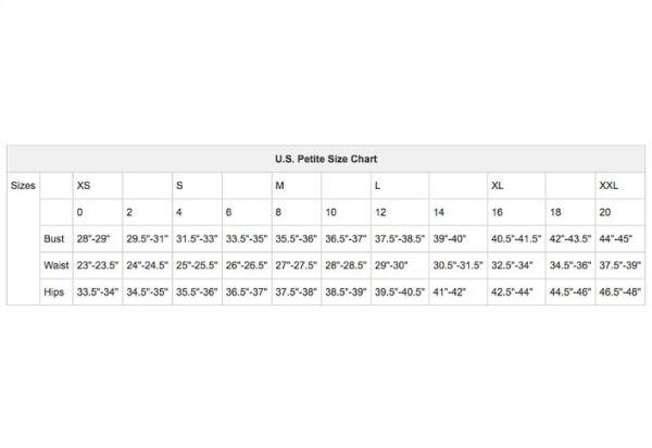U.S. Women's Apparel Size Charts