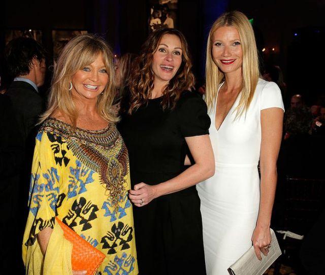 Goldie Hawn Julia Roberts And Gwyneth Paltrow Attend The Rd Annual Sean Penn Friends