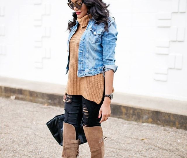 Add Layers To Ripped Jeans