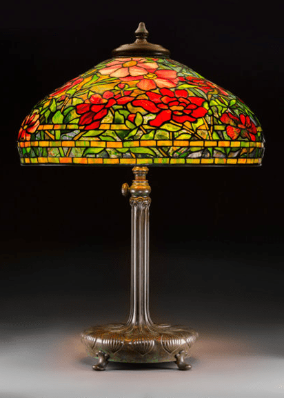 tiffany lamps dominate prices realized