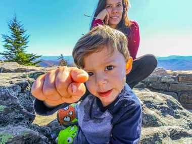 Toddler Pointing at Camera