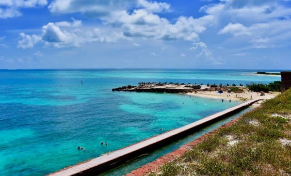 People swimming at Dry Tortugas National Park