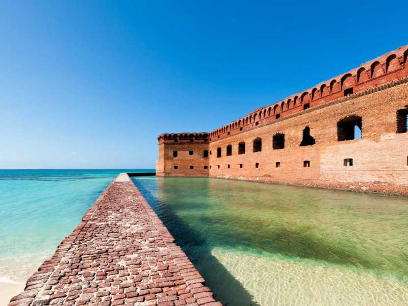 Fort Jefferson at Dry Tortugas National Park near Key West, Florida