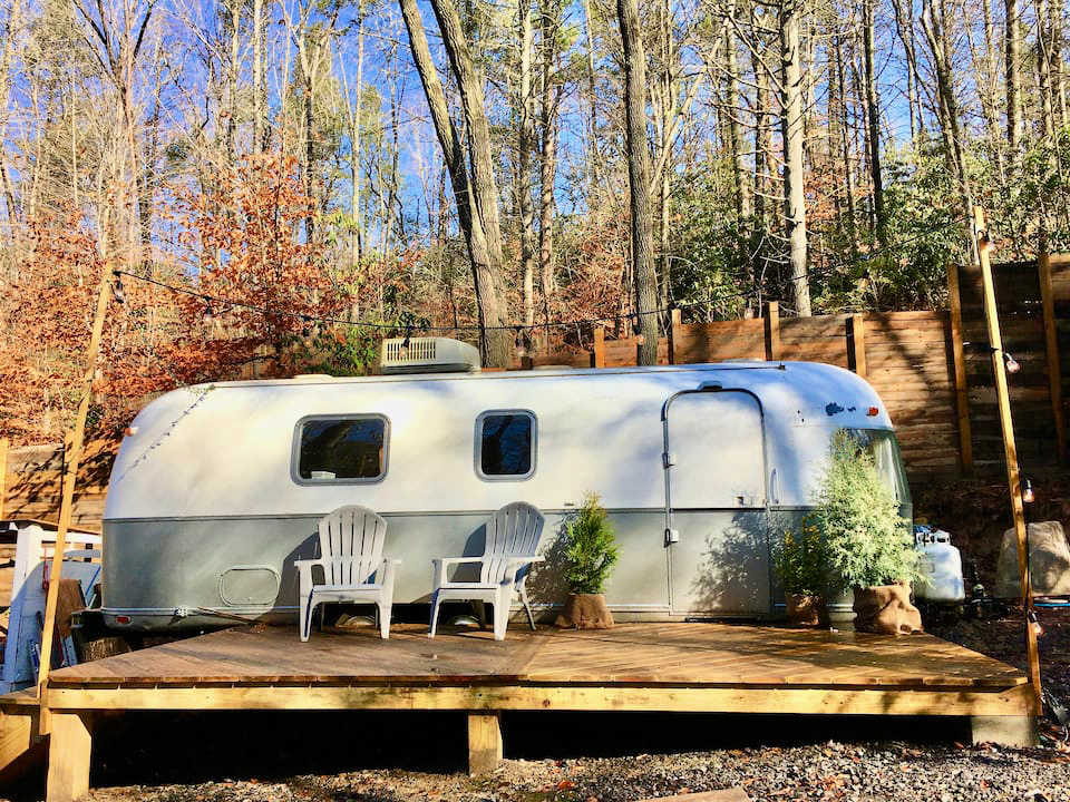 Asheville airbnbs luxury airstream