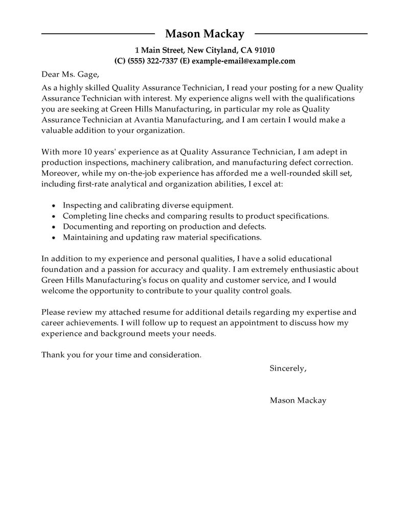 instrumentation and control engineer sample resume what is a cover – Sample Cover Letter to Recruiter
