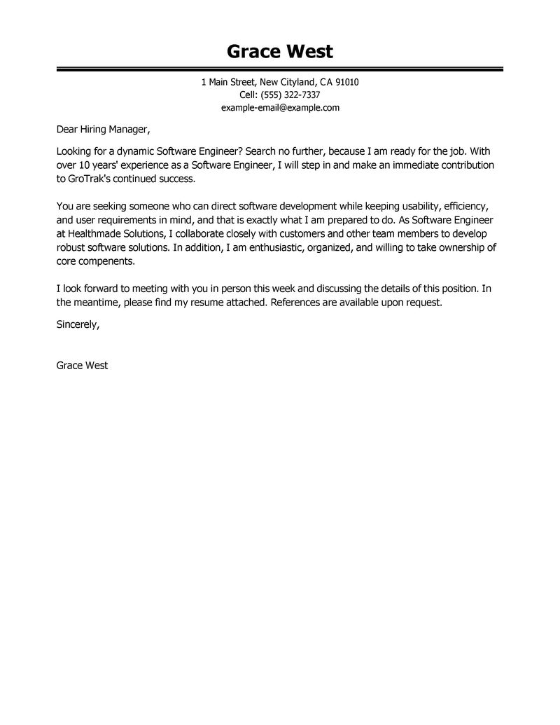 Sample Software Developer Cover Letter Image collections - Cover ...