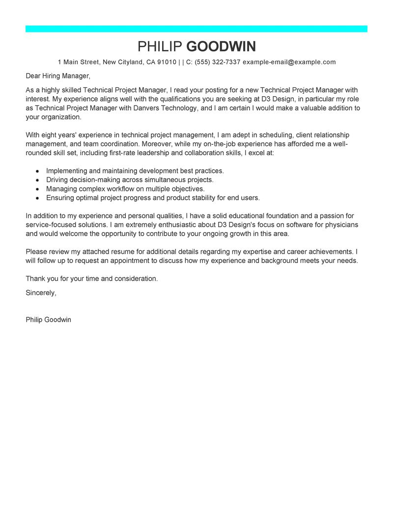 senior program manager cover letter Study our senior manager cover letter samples to learn the best way to write your own powerful cover letter.